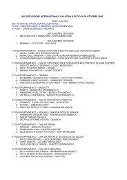 xiv esposizione internazionale galatina (lecce) 28-29 ... - Canitalia
