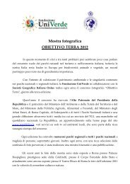 Mostra fotografica OBIETTIVO TERRA 2012 - Fondazione Univerde