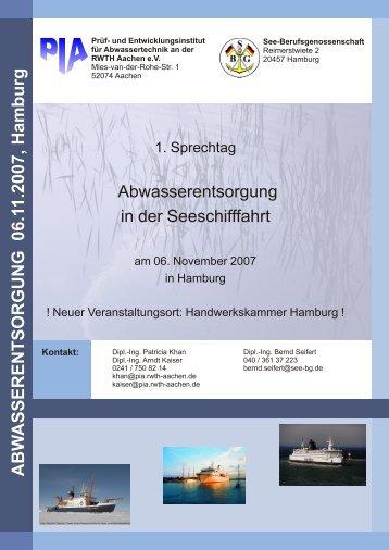 Programm & Anmeldung (pdf) - Prüf- und Entwicklungsinstitut für ...