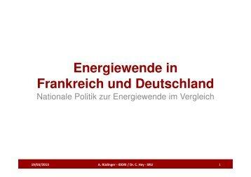 Energiewende in Frankreich und Deutschland - Tilia Umwelt
