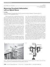 Measuring Viscoelastic Deformation with an Optical ... - Biofuturex.com