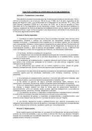 Tasa por Licencia de Aperturas de Establecimientos - Ayuntamiento ...