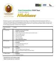 Hluhluwe is a town in northern KwaZulu Natal, South Africa. It ... - TAFI
