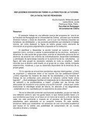 REFLEXIONES DOCENTES EN TORNO A LA PRÁCTICA DE LA ...