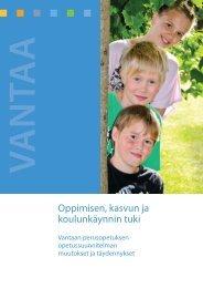 Oppimisen, kasvun ja koulunkäynnin tuki - Vantaan kaupunki