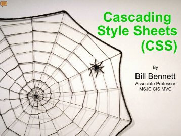 (CSS) Cascading Style Sheets - CIS
