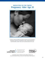 REFLECTING ON THE TREND: Pregnancy After Age 35