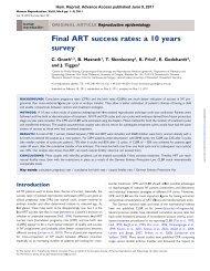 Final ART success rates: a 10 years survey - kinderwunsch-nrw.de