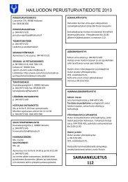 Perusturvan palvelut ja yhteystiedot 2013 - Hailuoto