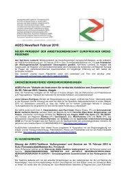AGEG Newsflash Februar 2010 - Association of European Border ...