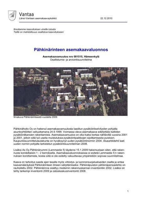 Osallistumis Ja Arviointisuunnitelma Vantaan Kaupunki