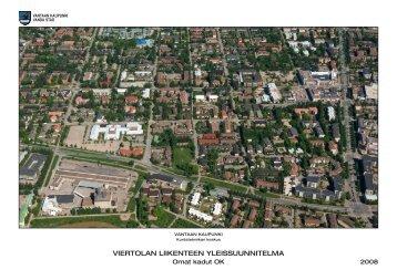 Viertolan liikenteen yleissuunnitelma - Vantaan kaupunki