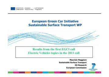 European Green Car Initiative Sustainable Surface ... - VPPC2010