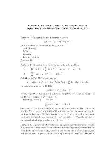 mid term 1 solution Cs 162 spring 2014 midterm exam #1 march 12, 2014 solutions name: _____ page 3/25 iii) in a multi-level address translation scheme.