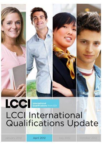April 2012 - LCCI International Qualifications