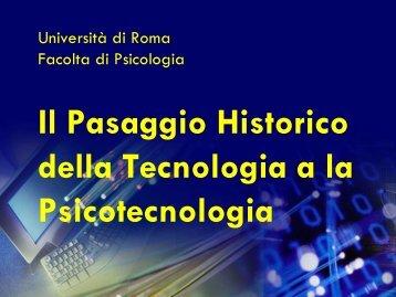 Il passagio storico dalla tecnologia alla psicotecnologia - Garito.it