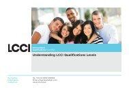 Understanding Qualification Levels - LCCI International Qualifications