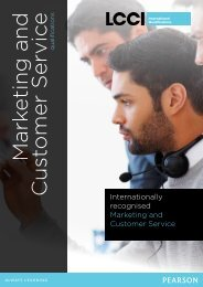 Marketing and Customer Service - LCCI International Qualifications