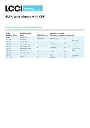 ELSA tests aligned with CEF