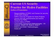 Current US Security Practice for Hydro Facilities - iPresas