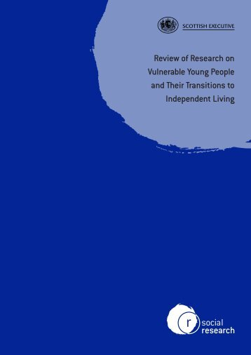 Review of research on vulnerable young people and their transitions ...