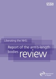 Report of the arm's-length bodies review - Gov.UK