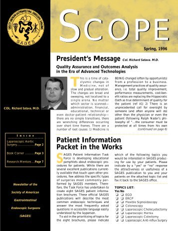 Patient Information Packet in the Works - SAGES