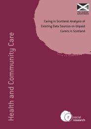 Caring in Scotland - Scottish Government