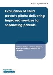 Final Report- Evaluation of Child Poverty Pilots for ... - Gov.UK
