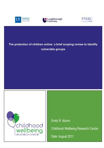 The protection of children online: a brief scoping review to ... - Gov.UK