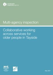 Collaborative working across services for older people in Tayside