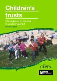 Children's trusts: a briefing paper on improving financial management