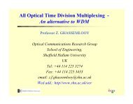 Optical Time Division Multiplexing - Northumbria University