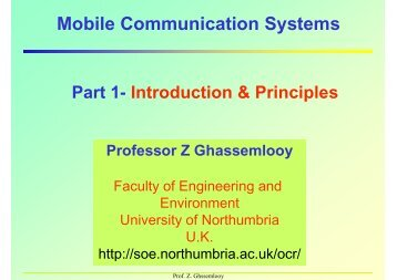 Mobile Communication Systems - Northumbria University