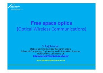 Introduction to Optical Wireless communicaitons - Northumbria ...