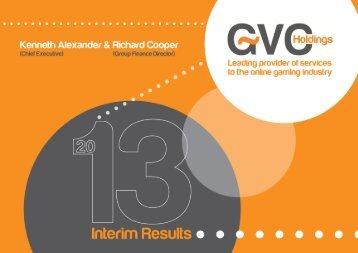 Interim Results Presentation - GVC Holdings PLC