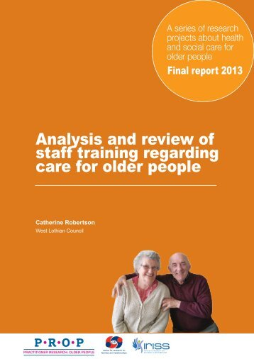 Analysis and review of staff training regarding care for older people