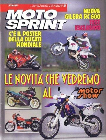 RC600C - Motosprint novembre 1990 - Gilera Bi4