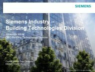 Siemens Industry – Building Technologies Division