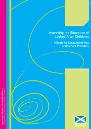 Improving the Education of Looked After Children - Scottish ...
