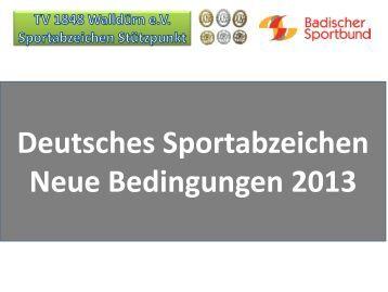 Sportabzeichen 2013 bedingungen