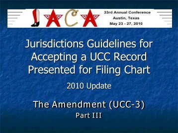 UCC Financing Statement Amendment (Form UCC3)