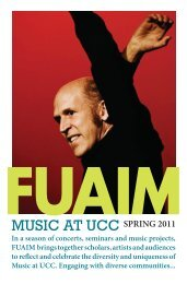 here - Music at UCC - University College Cork