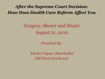 How Does Health Care Reform Affect You - by Kirsten Vignec