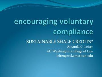 Amanda Leiter, Professor, American University Washington College ...