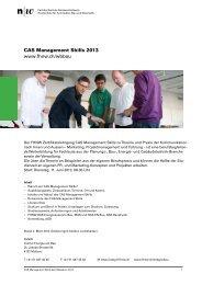 CAS Management Skills 2013 Detailprogramm
