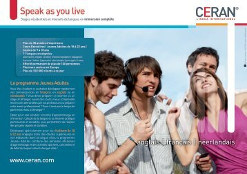 Speak as you live - CERAN