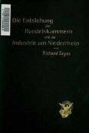 Die Entstehung der Handelskammern und die Industrie am ...