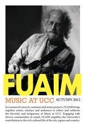 AUTUMN 2012 - Music at UCC - University College Cork