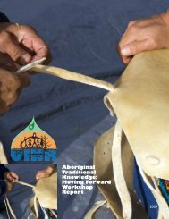 Aboriginal Traditional Knowledge: Moving Forward Workshop Report